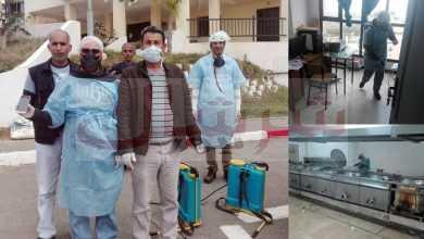 Photo of # وعيُنا_ يحْمينا/ حملة تطهير وتعقيم بالأحياء الجامعية للقليعة للوقاية من انتشار وباء فيروس كورونا